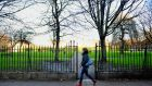 Mountjoy Square park in Dublin. The railings on the park are to be restored. Photograph: Aidan Crawley/The Irish Times