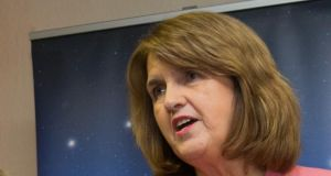 "Tánaiste Joan Burton: ""Due to industrial action by staff of the Civil Registration Service in the HSE. . . the schedule of commencement has been affected,""she wrote. Photograph: Gareth Chaney Collins"