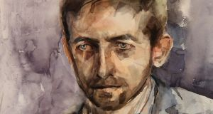 Áine Divine's portrait of musician Neil Hannon for Sky's Portrait Artist of the Year competition