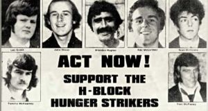A republican leaflet supporting the 1980 hunger strikers