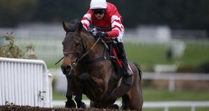Nico de Boinville riding Coneygree on their way to winning  at Sandown last month. Photograph: Alan Crowhurst/Getty Images