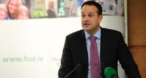 Minister for Health Leo Varadkar at the launch of the HSE national service plan. Photograph: Dara Mac Dónaill