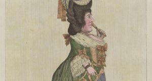 Darly's Comic Prints: Miss Wish-Husband, After 'HT' (1777). Copyright trustees of the Chester Beatty Library, Dublin