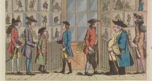 Darly's Comic Prints: The Macaroni Print Shop, After Edward Topham (1751-1820). Copyright trustees of the Chester Beatty Library, Dublin