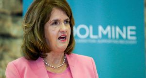 "Tánaiste Joan Burton: ""If you look at the City of London – and this is one of the few things I have in common with Boris Johnson – we're both very strong supporters of the living wage."""