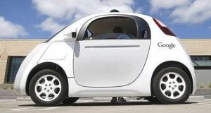 Fleets of Google driverless cars could be deployed first in confined areas such as college campuses, military bases or corporate office parks. Photograph: Bloomberg
