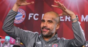 Bayern Munich coach Pep Guardiola has confirmed he has made up his mind about his future. Photograph: Getty