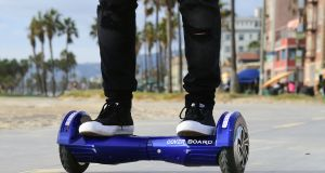A so-called 'hoverboard' - or self-balancing electric scooter - the must-have gadget this Christmas. Photograph: Frederic J Brown/AFP/Getty Images