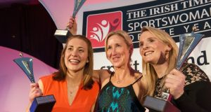 Brenda Fitzsimons captures the action at the Sportswomen of the Year 2015 awards in the Shelbourne Hotel, Dublin on Friday evening.