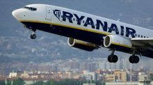Ryanair was one of the best performers on the Iseq, finishing up almost 2 per cent. Photograph: Josep Lago/AFP/Getty Images