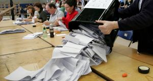 Returning officers for elections have been instructed to treat as a spoilt vote any ballot paper that has a sequence of numbers that does not begin with a '1' or 'one'. File photograph: Cyril Byrne/The Irish Times