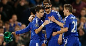 Oscar scored Chelsea's third in their 3-1 win over Sunderland at Stamford Bridge. Photograph: Reuters