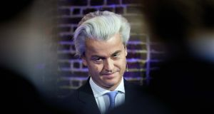 Dutch right-wing anti-immigrant politician Geert Wilders:  warned that Dutch workers faced being priced out of their jobs. Photograph: Martijn Beekman/AFP/Getty Images
