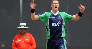 Opening bowler Boyd Rankin will return to play international cricket for Ireland from January. Photograph:  Inpho/ICC