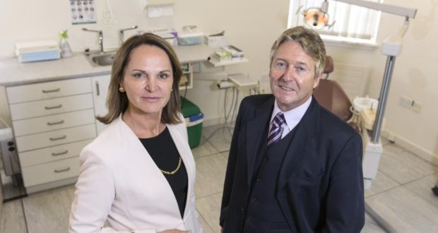 Professor Helen Whelton, dean of the School of Dentistry, University of Leeds, and Dr Noel Woods, Centre for Policy Studies, UCC. Photograph: Tomas Tyner, UCC
