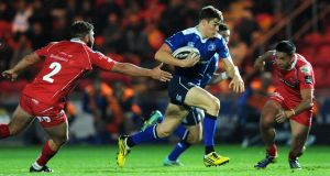 Gary Ringrose in action against Scarlets. It's time to consider bumping Te'o to the end of the centre queue and invest that time into someone who might offer Leinster, and Ireland, a greater return. Photograph: Ian Cook/Inpho