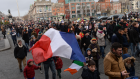 In January, a solidarity rally is held in Dublin in memory of the victims of the Charlie Hebdo shootings in Paris the previous week. More heartache was to visit France in November. Photograph: Dara Mac Dónaill.