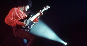 Thin Lizzy: Phil Lynott at the Hammersmith Odeon, in London, in 1976. Photograph: Erica Echenberg/Redferns