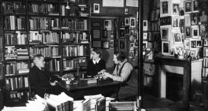 "James Joyce  with Shakespeare & Co bookstore owner Sylvia Beach, centre, and  Adrienne Monnier: Joyce was a famously slow writer. Once a friend found him slumped dejectedly over his desk. ""How many words did you manage today?"" ""Seven,"" Joyce replied. ""But that's great, for you."" ""But now I have to work out their right order,"" he wailed. Photograph: Getty Images"