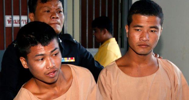 Burmese men face death over UK tourist murders in Thailand