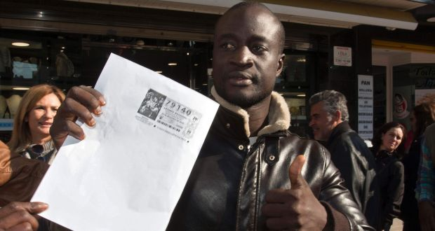 Rescued African migrant wins €400,000 in Spain's lottery