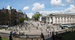 Images issued by Dublin City Council showing illustrations of proposed changes to College Green in Dublin. Photograph:  Dublin City Council/PA Wire