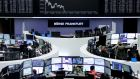 European shares fell on Monday in their first day of trade since the Christmas break.