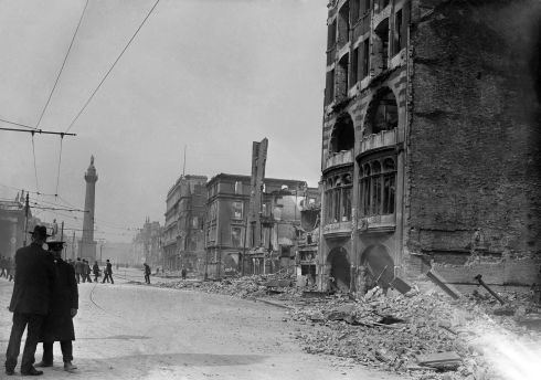 Left in ruins by the fighting and the Great Fire, the rebuilding of Sackville Street was to take several years.