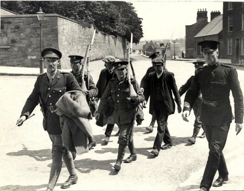 Republican prisoner being escorted to Kilmainham Gaol.