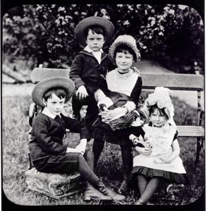 The Pearse children (l–r): Patrick, William, Margaret and Mary Brigid.