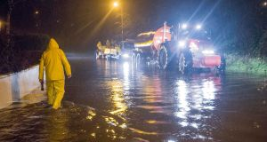 Storm Frank causes floods in Meadowbrook, Glanmire, Co Cork on Tuesday night  where the Glashaboy River broke its banks. Photograph: Daragh Mc Sweeney/Provision
