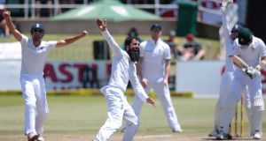 Moeen Ali took three wickets on the final morning as South Africa collapsed to give England a 241 run win in the first Test at Durban. Photograph: Afp