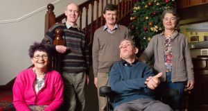 "The Sheridan family, Mary, Peter, Brian and Alice, with Paddy (seated): The staff at Forest House are Paddy's ""family. They know his likes and dislikes"". Photograph: Barry Cronin"