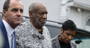 US comedian Bill Cosby arrives at a court house in Elkins Park, Pennsylvania to face charges of aggravated indecent assault, December 30th, 2015. Photograph: Kena Betancur/AFP/Getty Images