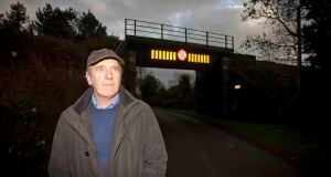Roy Hill who witnessed the train crash near his home, Tubberneering, Co Wexford. Photograph: Garry O'Neill