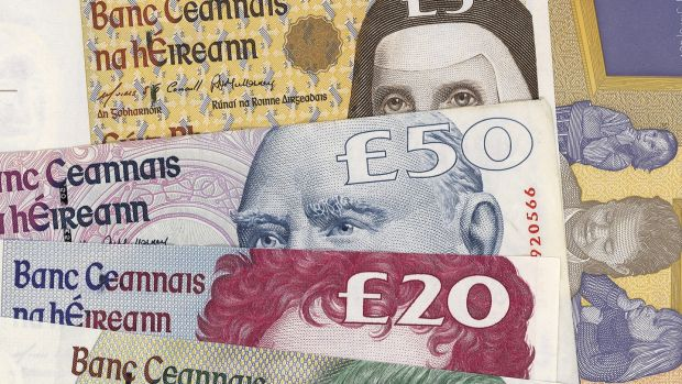 By the end of 2002, 90 per cent of Irish pounds had been withdrawn. Photograph: Thinkstock