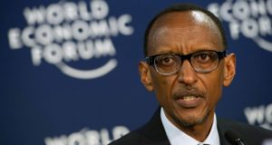 Paul Kagame: he has been president since 2000 but has been in control since  1994. Photograph: Johannes Eisele/AFP/Getty Images