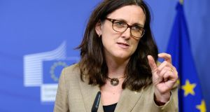 "European Union commissioner for trade Cecilia Malmstrom: ""Gradually, the [pact] will contribute to a prosperous Ukraine and to stronger economic integration with the EU,"" she said. Photograph:  Thierry CharlierAFP/Getty Images"