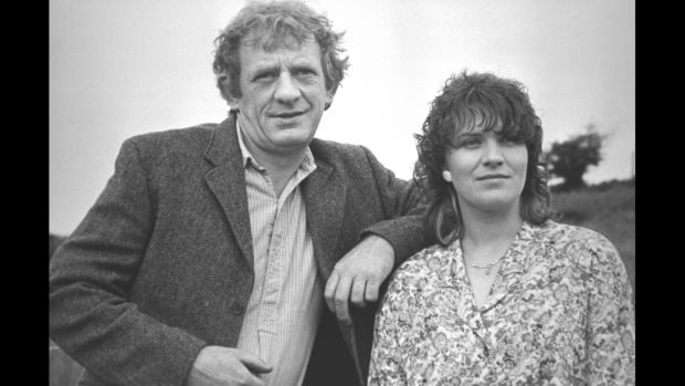 Miley (Mick Lally) and Biddy Byrne (Mary McEvoy) in Glenroe, which was axed by RTÉ in 2001.