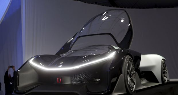 The Faraday Future Ffzero1 Electric Concept Car Is Shown After An Unveiling At A News Conference
