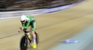 Ireland's Martyn Irvine competes in the Men's Omnium II Individual Pursuit 4km event at the UCI Track Cycling World Championships last February. Photograph: Getty Images