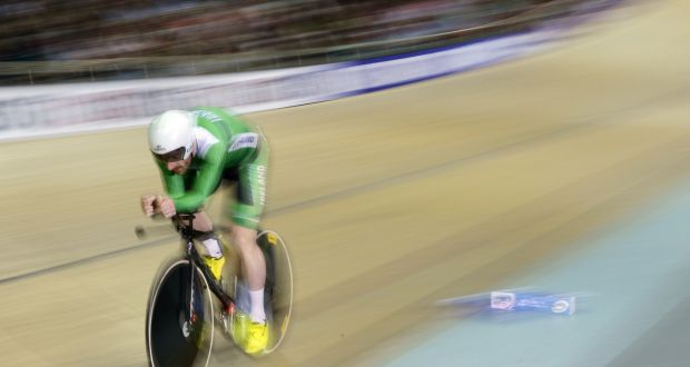 2ebfb9308 Ireland s Martyn Irvine competes in the Men s Omnium II Individual Pursuit  4km event at the UCI