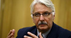 "Poland's foreign minister Witold Waszczykowski: He told 'Bild' his government was tackling a  bias that the world was filled with  ""cyclists and vegetarians who push for renewable energy and fight all forms of religion"". These  standpoints have ""nothing to do with traditional Polish values"". Photograph: Kacper Pempel/Reuters"