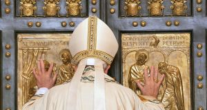 Whats not to like?: Pope Francis opens the Holy Door of Saint Peter's Basilica, formally starting the Jubilee of Mercy, at the Vatican City, 08 December 2015.  EPA/MAURIZIO BRAMBATTI