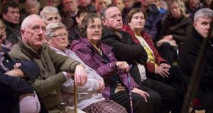 Residents of Bansha, Co Tipperary, pack their local community hall at a public meeting in November. They are concerned that a GP vacancy be filled. Photograph: John D Kelly