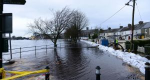 A flooded Wolfe Tone Terrace in Athlone on Tuesday. Photograph: Bryan O'Brien/The Irish Times