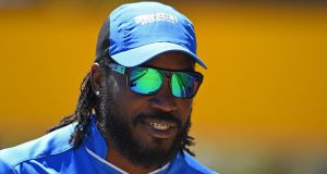 "West Indies star Gayle has apologised after his ""joke"" flirt with a female television presenter was branded ""disrespectful"" and ""inappropriate"" by authorities after Ten Network reporter Mel McLaughlin found herself being asked out for a drink during an interview with the burly opener after he blasted 41 runs off 15 balls for the Melbourne Renegades in the Big Bash League. Photograph: Getty Images"