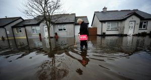 Carmel Rourke making her way throughPortavolla housing estate in Bangher, Co Offaly. Photograph: James Flynn/APX