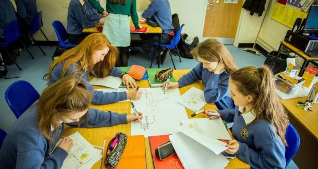 A teaching revolution that makes the classes come alive emer mcgurran isabelle pawlowski chloe johnston and aoife keegan in science class at magh fandeluxe Choice Image