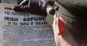 The 1916 Proclamation  called for the creation of a Republic 'elected by the suffrages of all her men and women' and a commitment to cherish 'all the children of the nation equally'. Photograph: Gareth Chaney/Collins